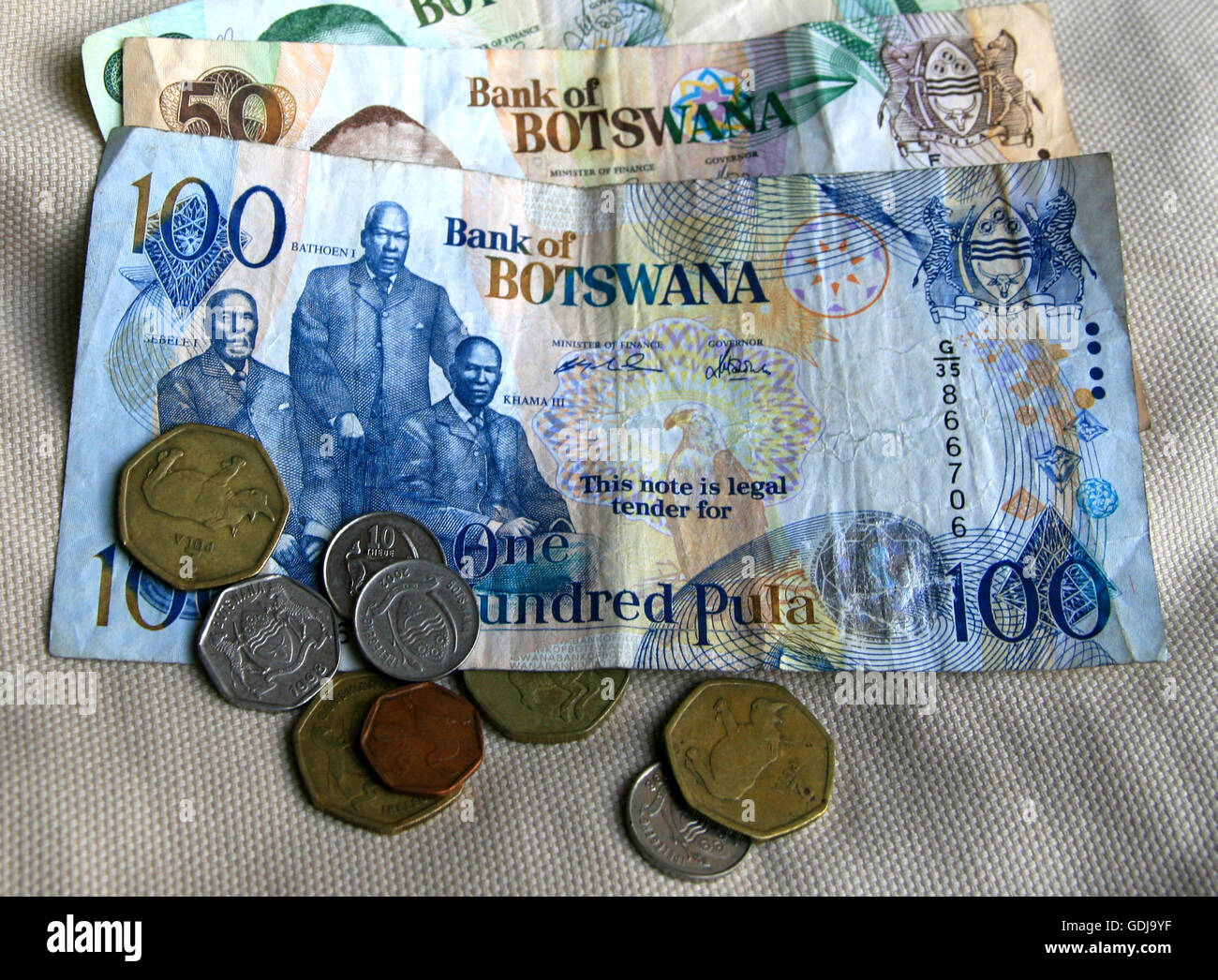 Pula Botswana Currency Stock Photo 111655699 Alamy