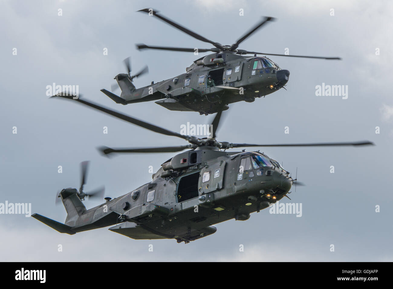 Agusta Westland Merlin HC3 and HC3A of the Commando Helicopter Force. - Stock Image