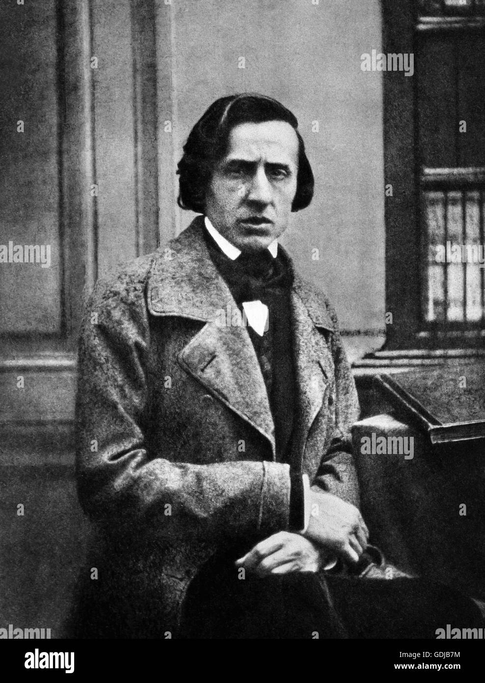 Chopin. Portrait of the Polish composer and pianist, Frédéric François Chopin (1810-1849), by Louis - Stock Image