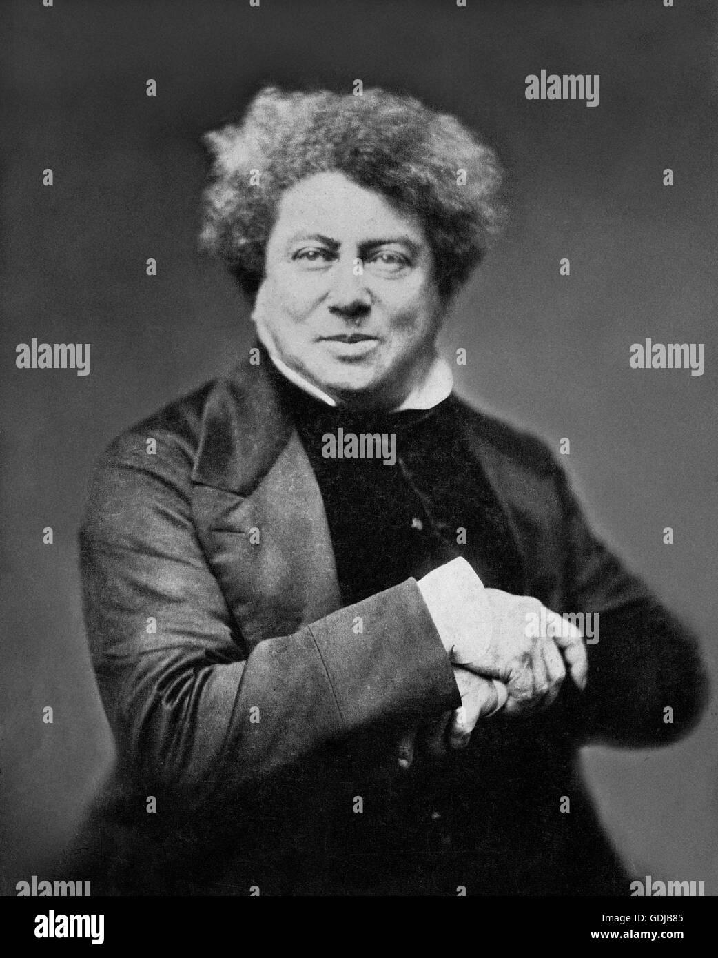 Alexandre Dumas. Portrait of the French writer, Alexandre Dumas, père (1802-1870), famous for works such as - Stock Image