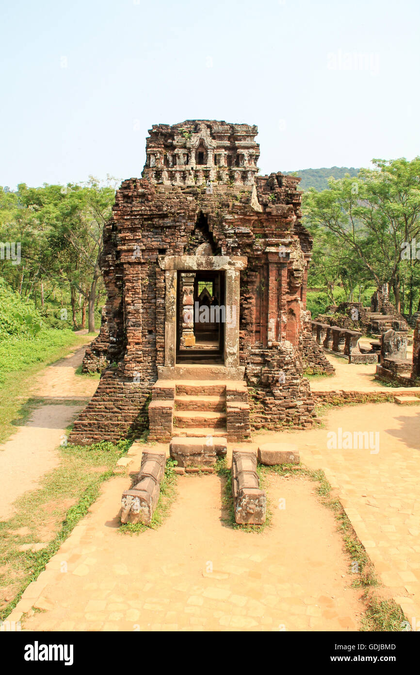 My Son temple ruins in Hoi An, Vietnam. Stock Photo