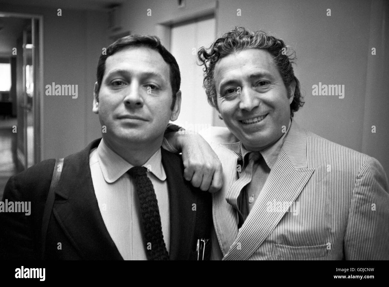 Allyn Z. Baum, on left, and Tony Vaccaro. - Stock Image