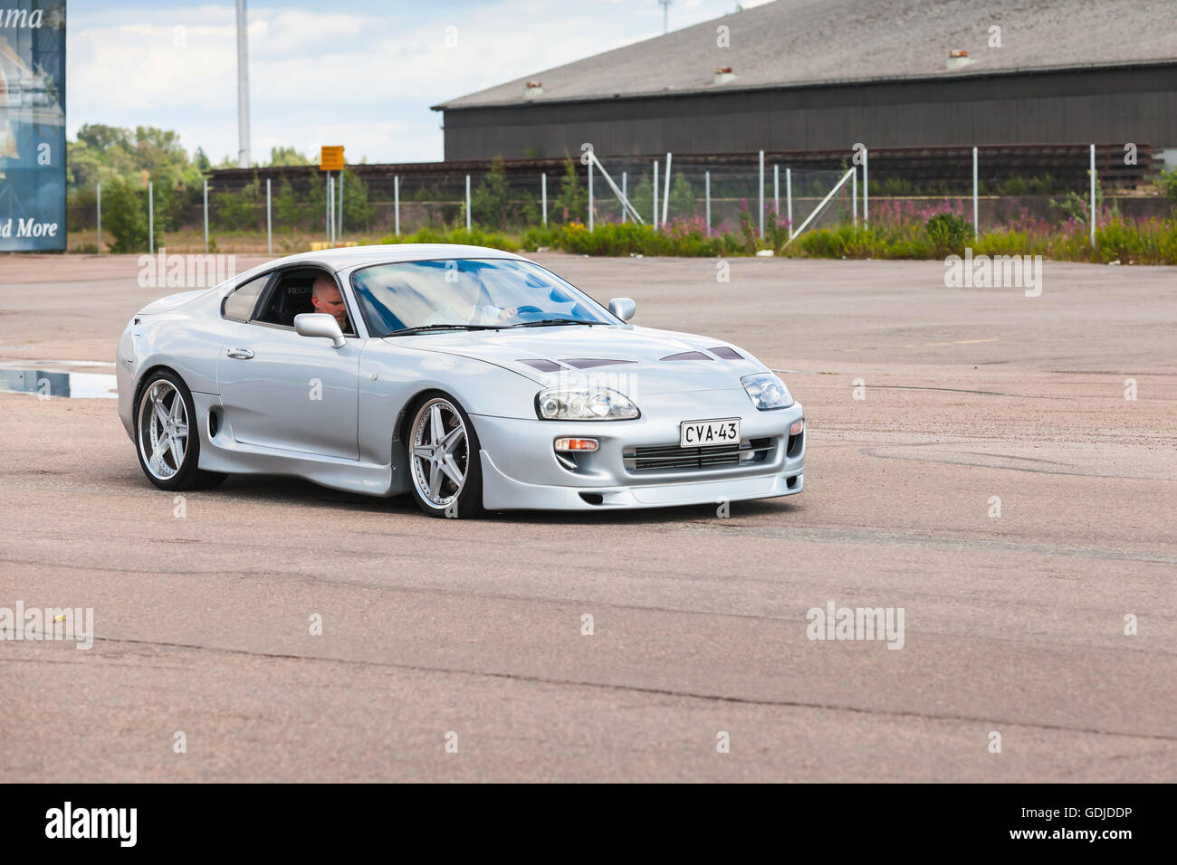 Toyota Supra 2016 >> Kotka Finland July 16 2016 Light Gray Metallic Toyota