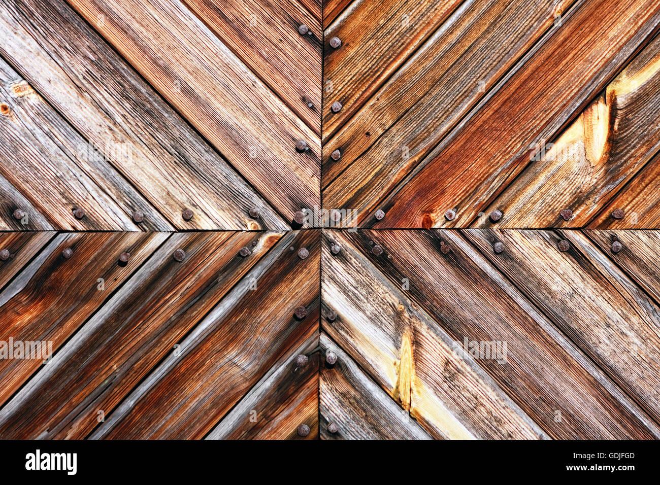 Wooden board crossing Stock Photo