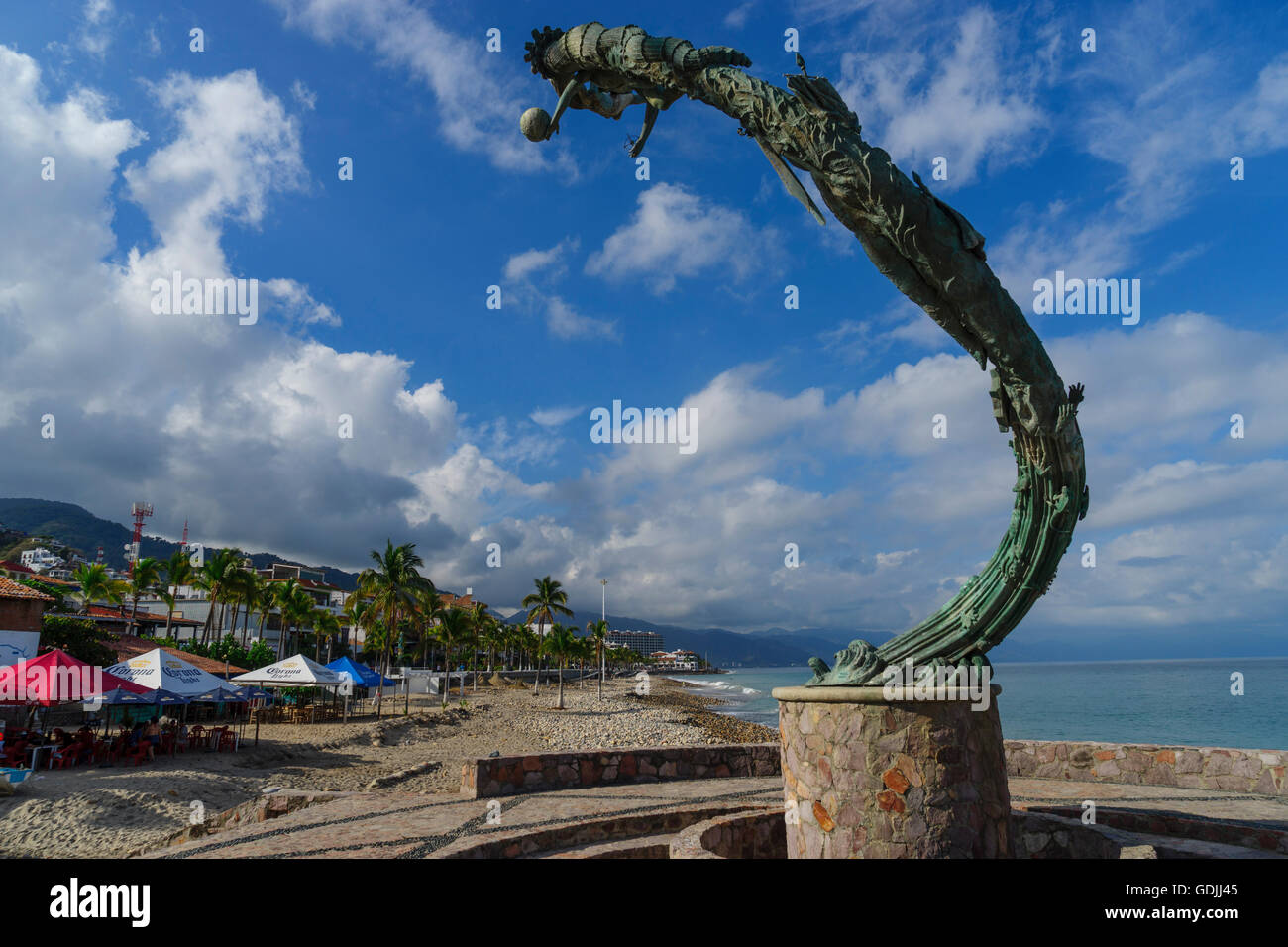 The Millennia by Mathis Lidice situated just past the north end of the PV malecon Puerto Vallarta Mexcio Stock Photo