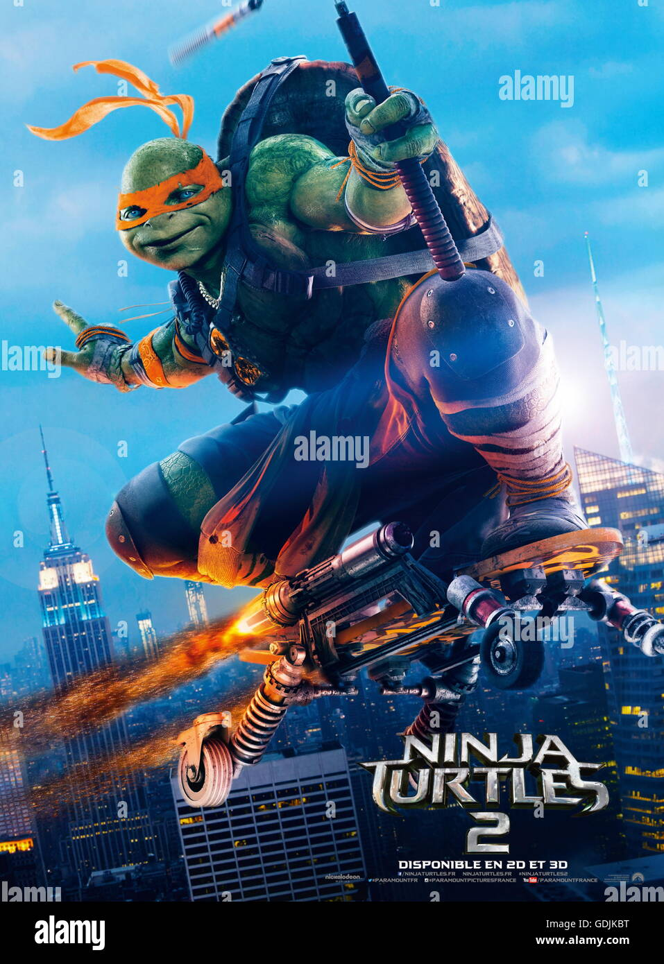RELEASE DATE: June 3, 2016 TITLE: Teenage Mutant Ninja Turtles: Out of The Shadows STUDIO: Paramount Pictures DIRECTOR: - Stock Image