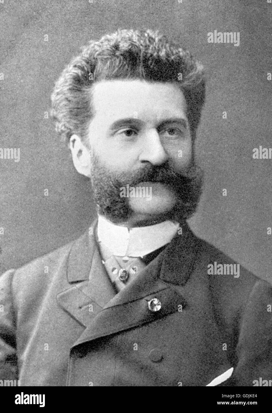 The Austrian composer, Johann Strauss II (1825-1899) - Stock Image
