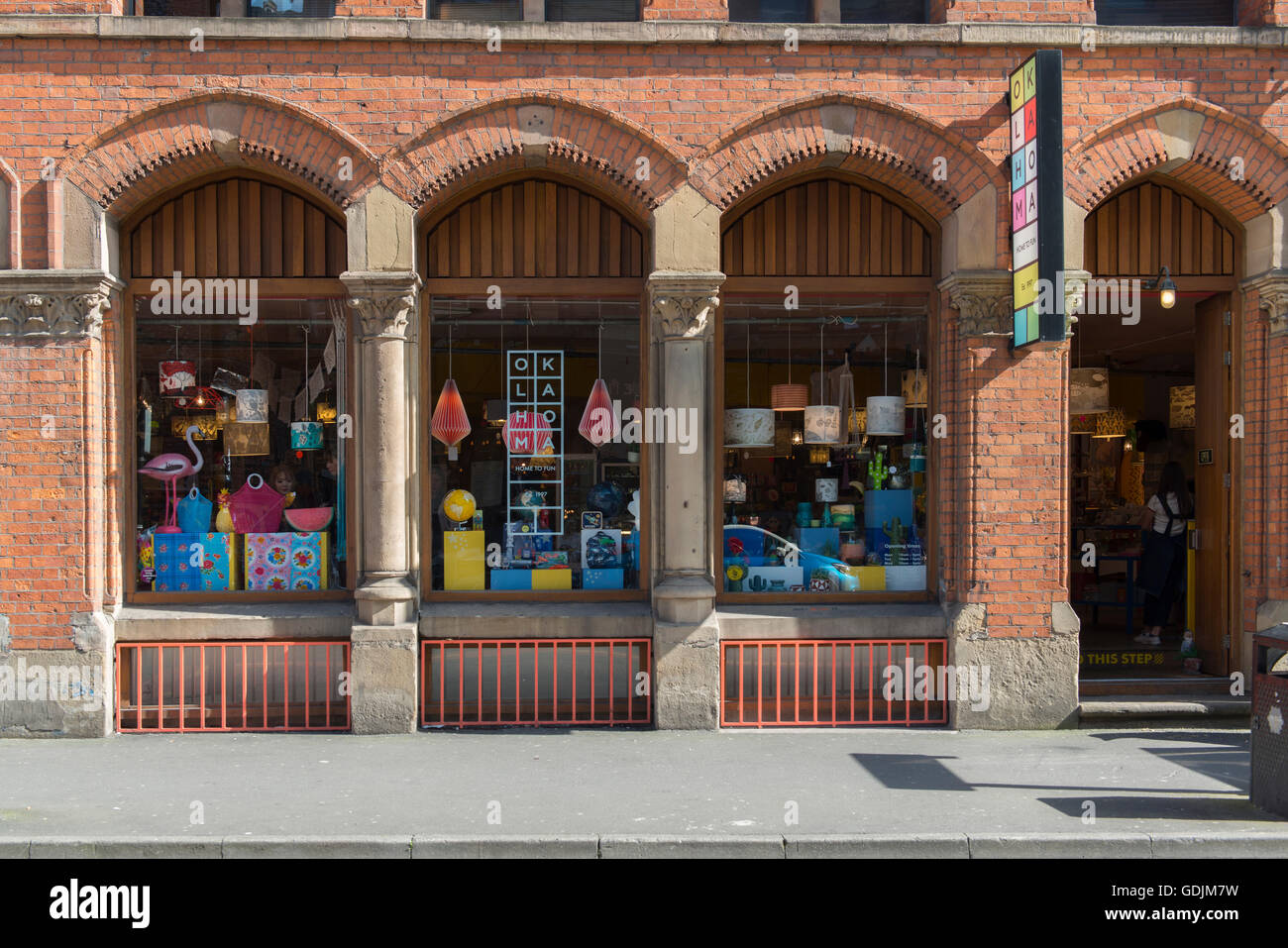 Oklahoma gift shop located on High Street in the Northern Quarter area of Manchester. - Stock Image