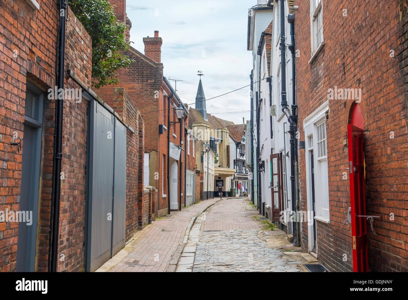 Middle Street Faversham Back Street Kent England UK Stock Photo