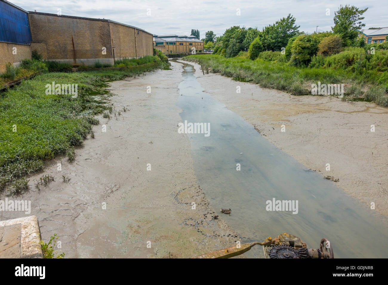 Faversham Creek Tide Out Mud Banks Faversham Kent UK - Stock Image