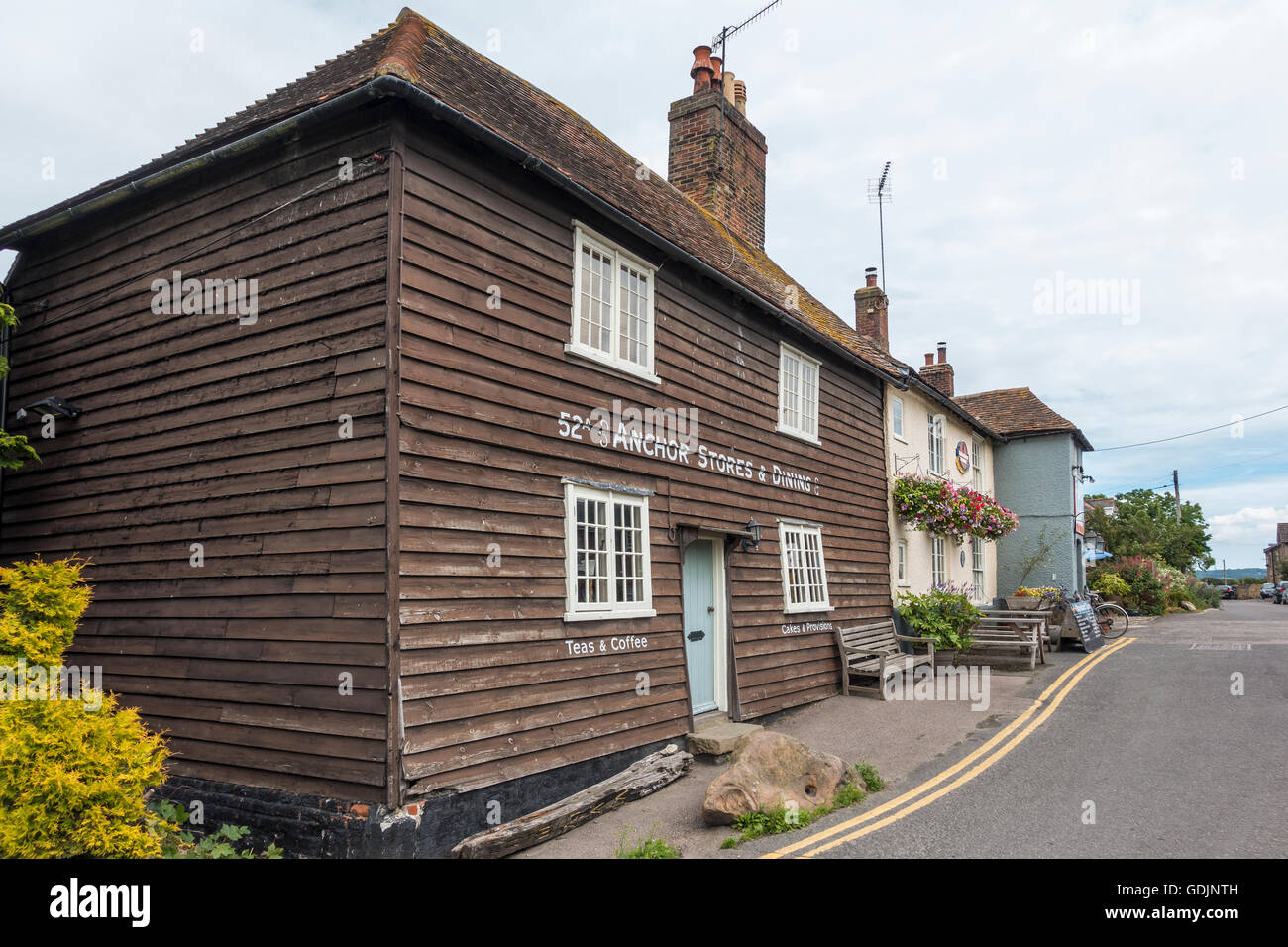 The Anchor Pub and Restaurant Abbey Street Faversham Kent UK  Shepherd Neame - Stock Image