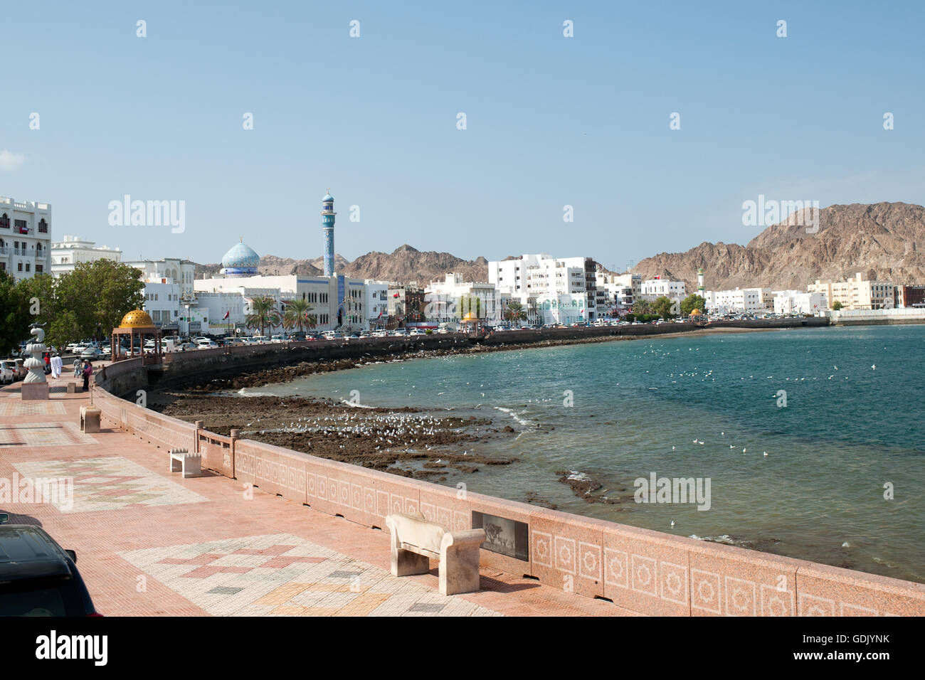 Mutrah corniche in Muscat, the capital of the Sultanate of