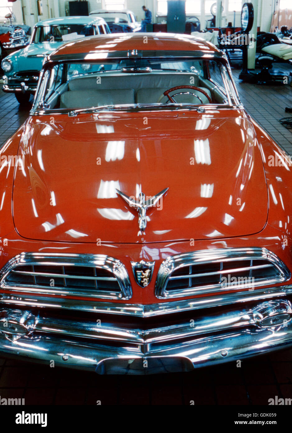 The 1955 Chrysler Plymouth, designed by Virgil Exner - Stock Image