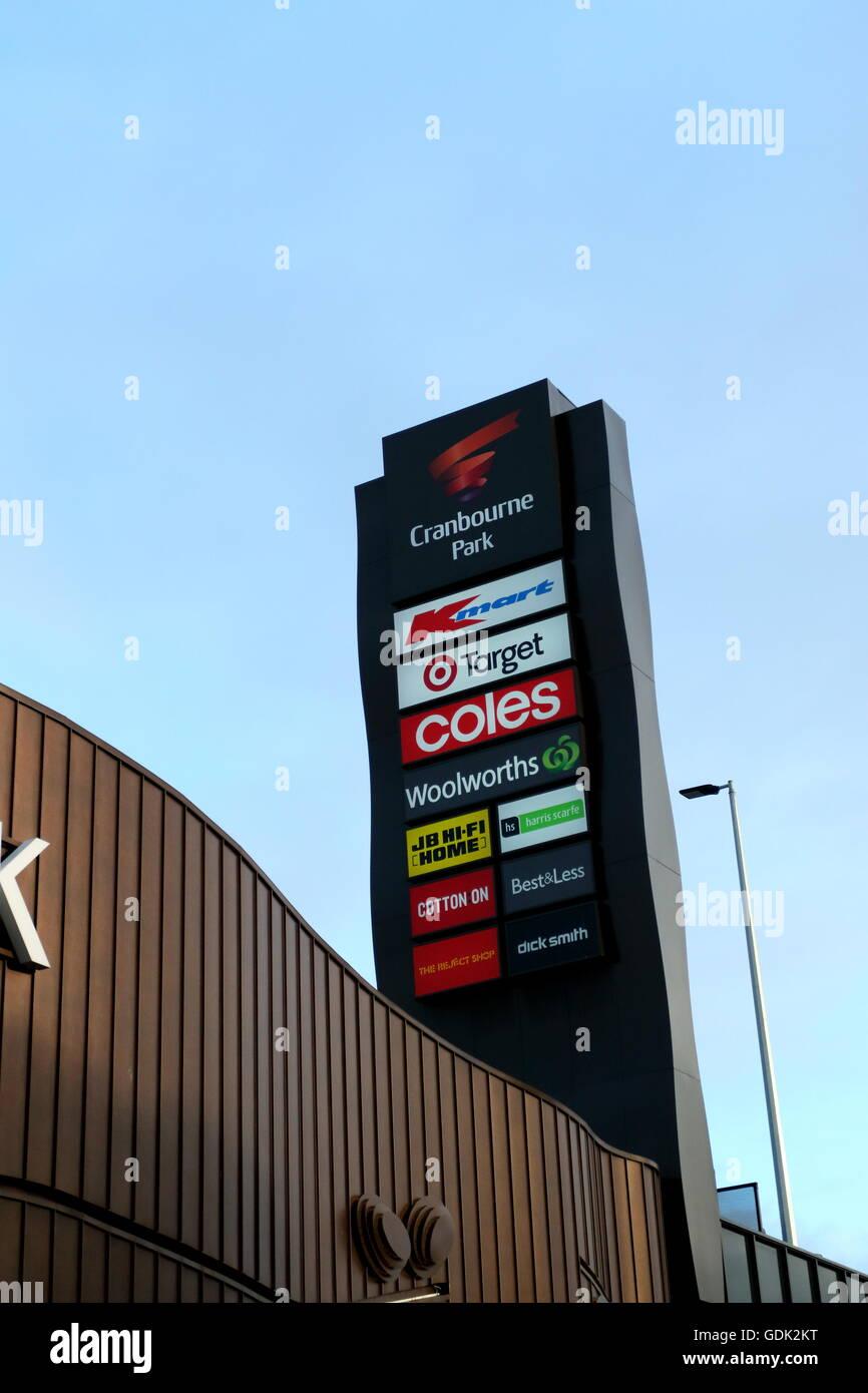 Cranbourne Park shopping center in Cranbourne Melbourne Victoria Australia - Stock Image