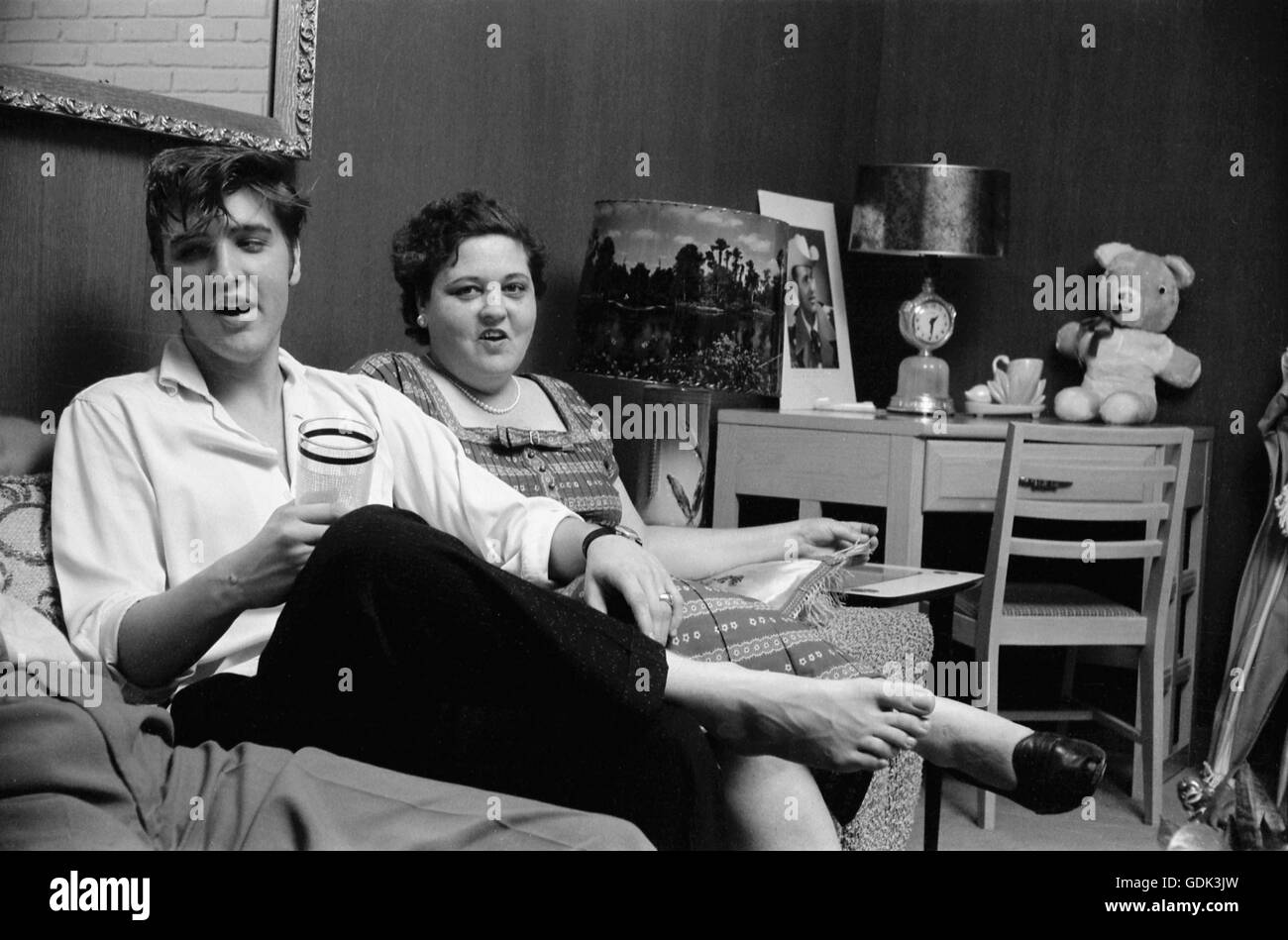 Elvis Presley with his mother Gladys - Stock Image
