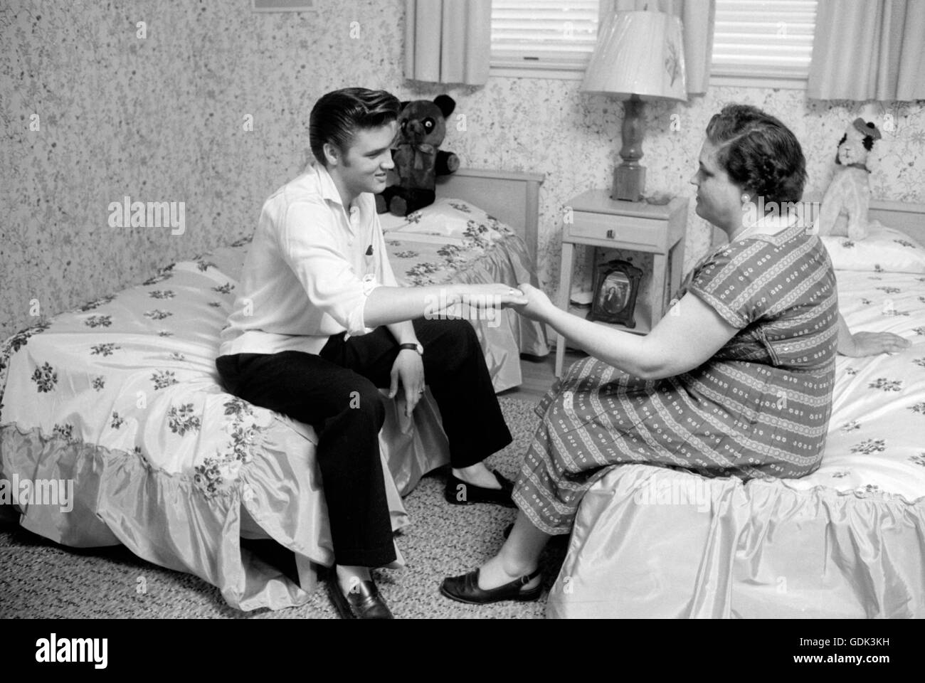 Elvis Presley and Gladys at home - Stock Image