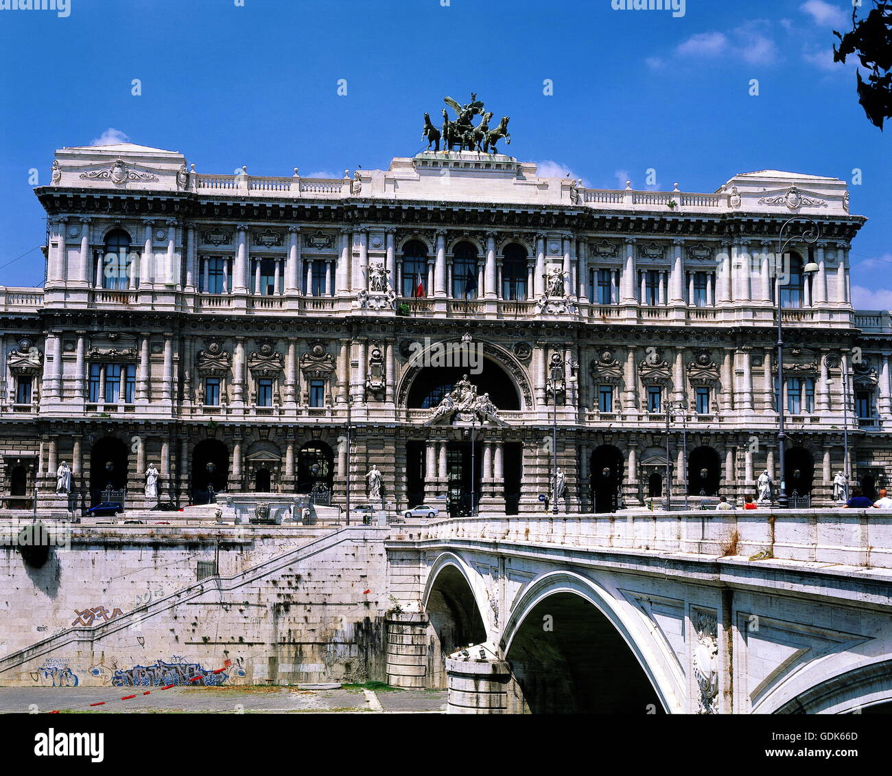 geography / travel, Italy, Rome, palace of justice, built: 1888-1910 by Gugliemo Calderini, exterior view, Ponte - Stock Image