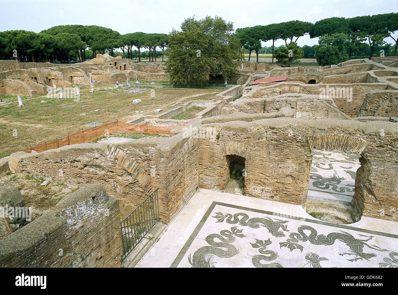 geography / travel, Italy, Rome, Ostia Antica, excavation site, harbour, founded in 7th century BC by king Ancus - Stock Image
