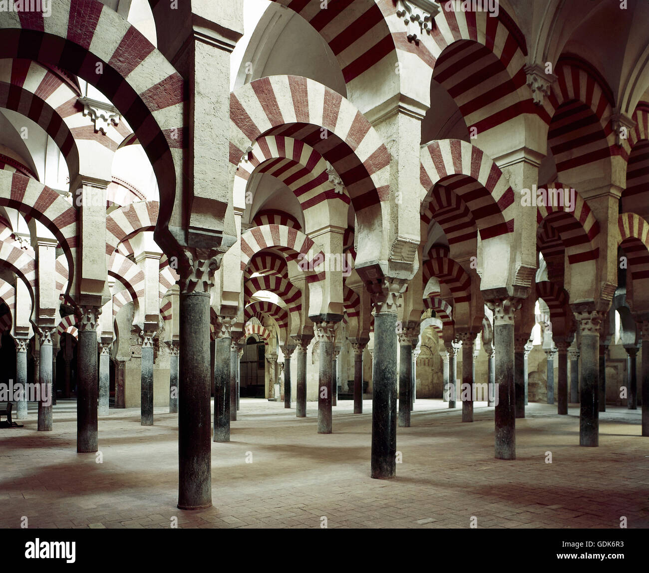 geography / travel, Spain, Cordoba, Great Mosque of Cordoba (Mezquita), mosque since 1236, column hall, built: circa Stock Photo