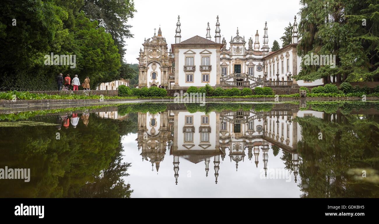 Casa de Mateus, Palast mit großen Gärten,  Arroios, Distrikt Vila Real, Portugal, Europa, - Stock Image