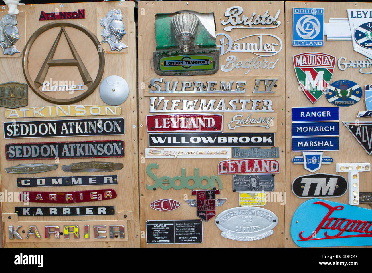Vintage, classic collectors memorabilia, for sale. Stock Photo