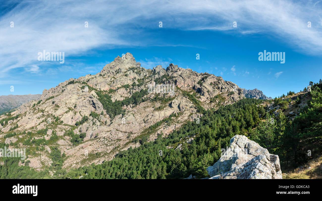 Col de Bavella, Bavella massif, Corsica, France - Stock Image