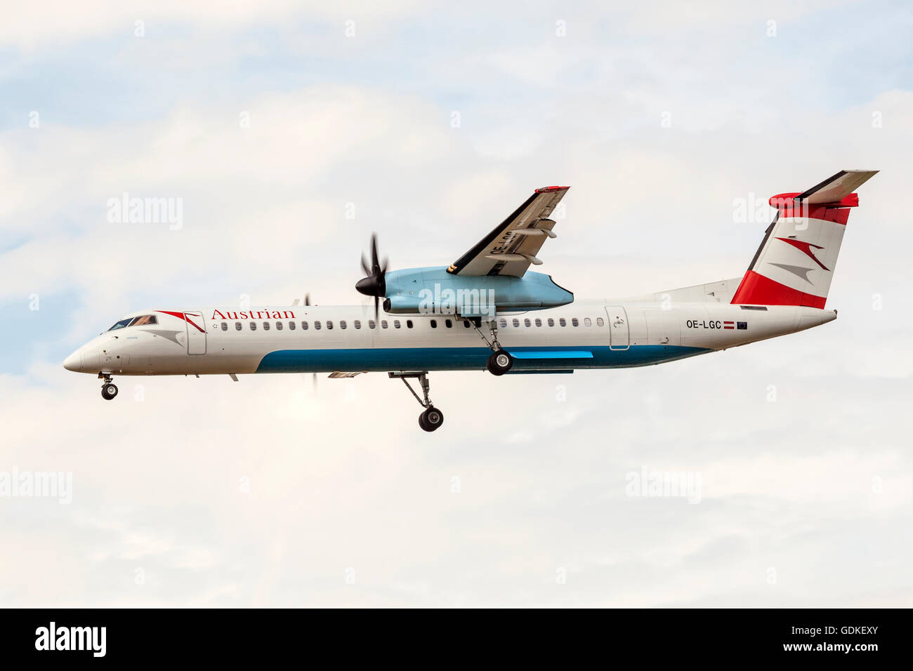 Austrian Airlines Bombardier Dash 8 - Stock Image