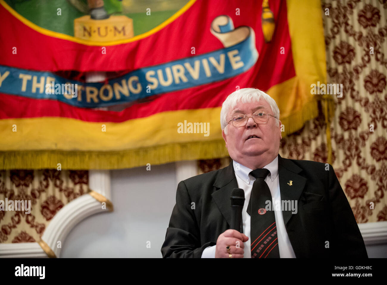David (Davey) Hopper, Durham Miners' General Secretary, who died on Saturday 16th July 2016. He was 72 years - Stock Image