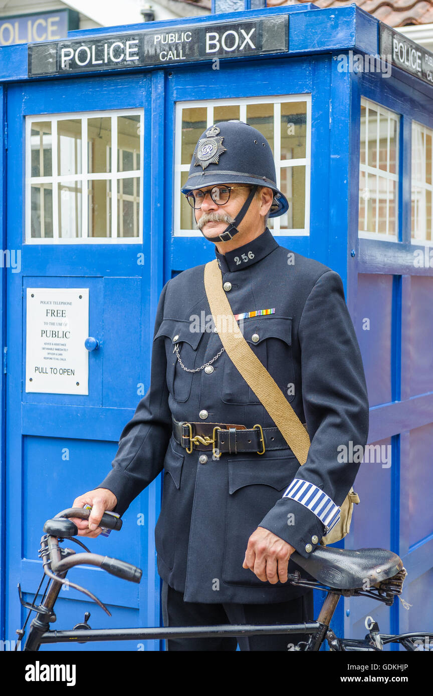 Woodhall spa 1940s festival policeman dressed in 1940s for Uniform spa vector