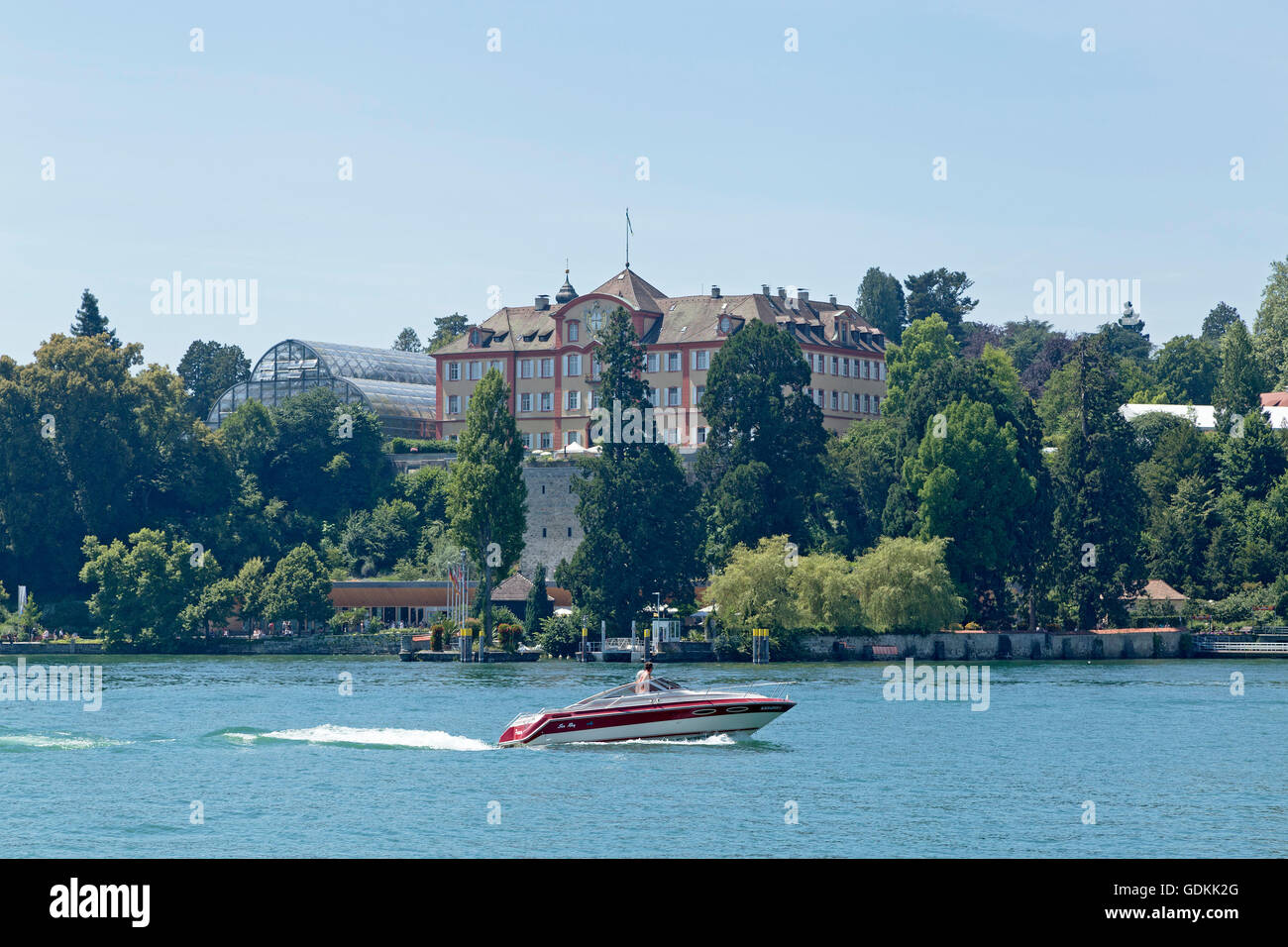 Baroque palace, Mainau Island, Lake Constance, Baden-Wuerttemberg, Germany - Stock Image