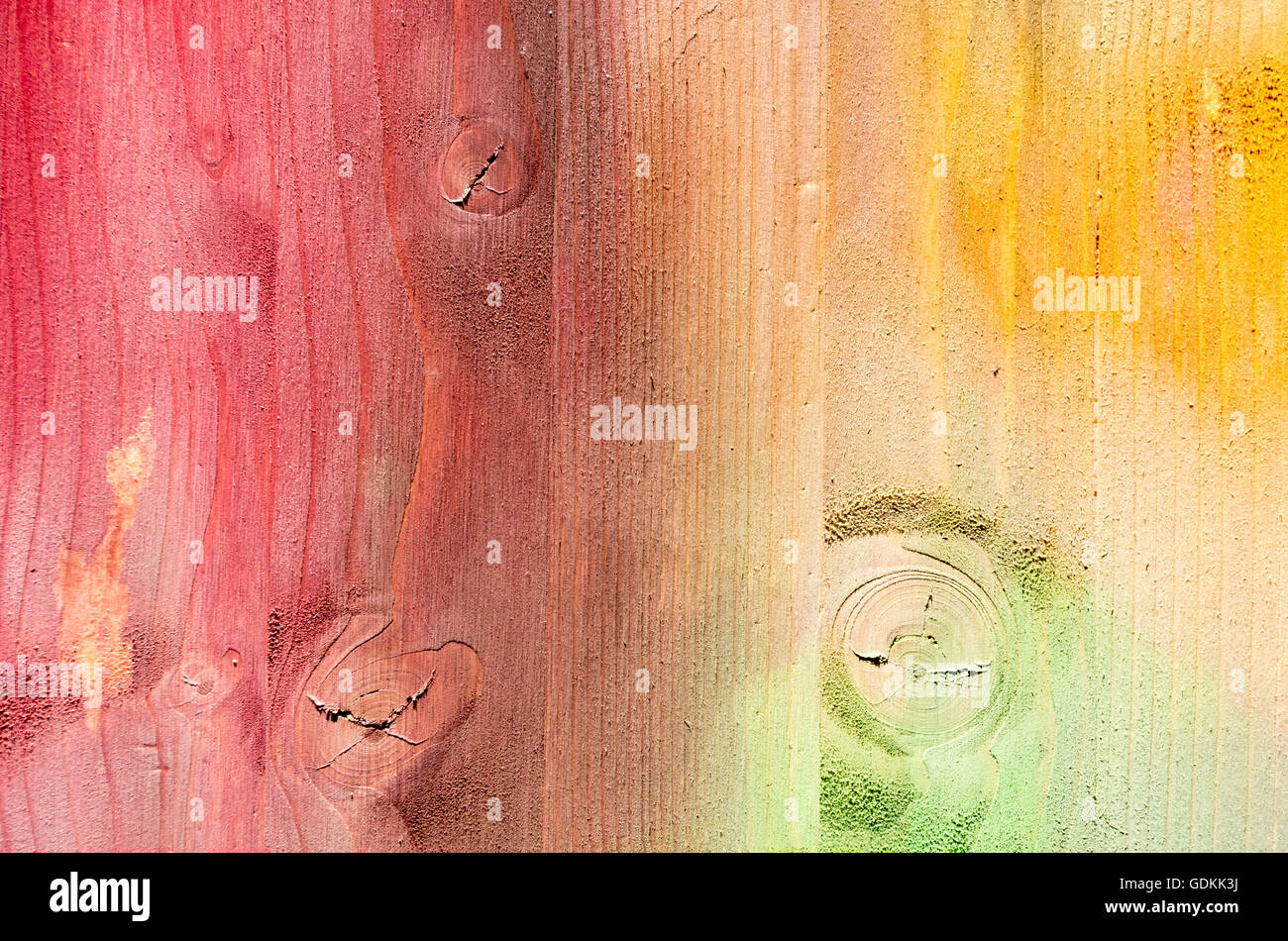 Texture of painted multi colored Wood Planks Background Stock Photo