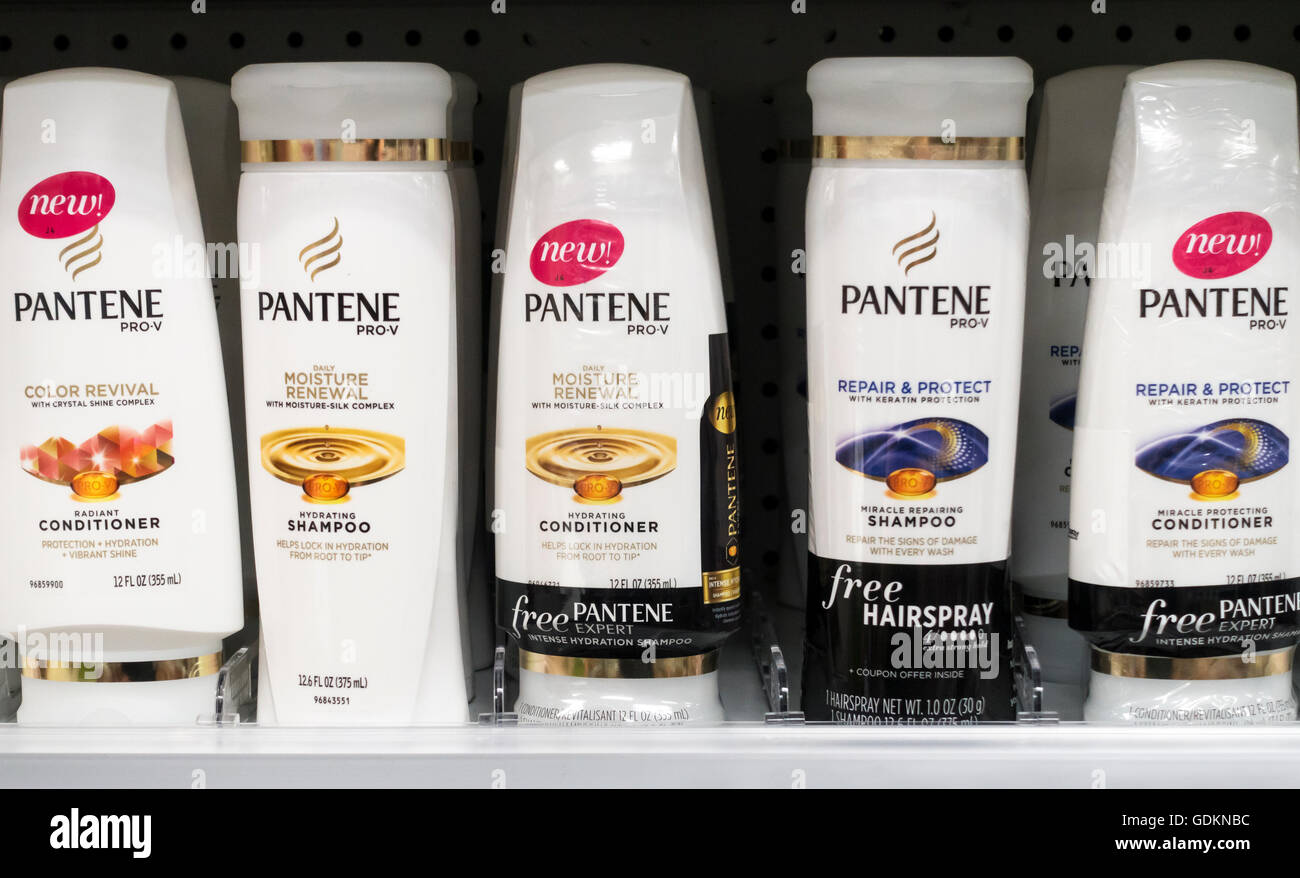 Pantene shampoo and conditioners - Stock Image