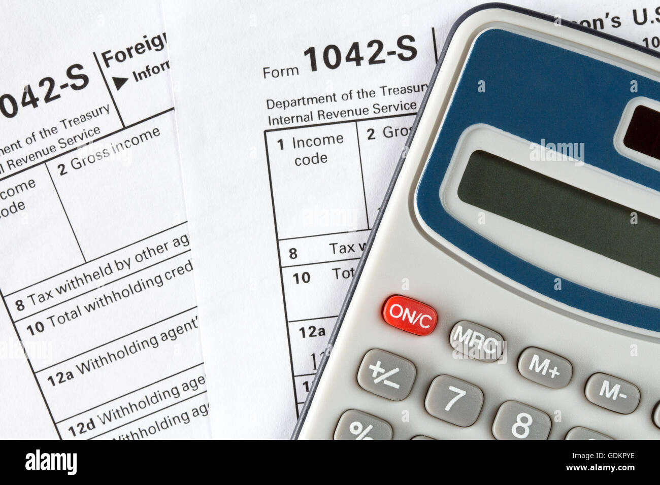 Tax Form 1042 Stock Photos & Tax Form 1042 Stock Images - Alamy