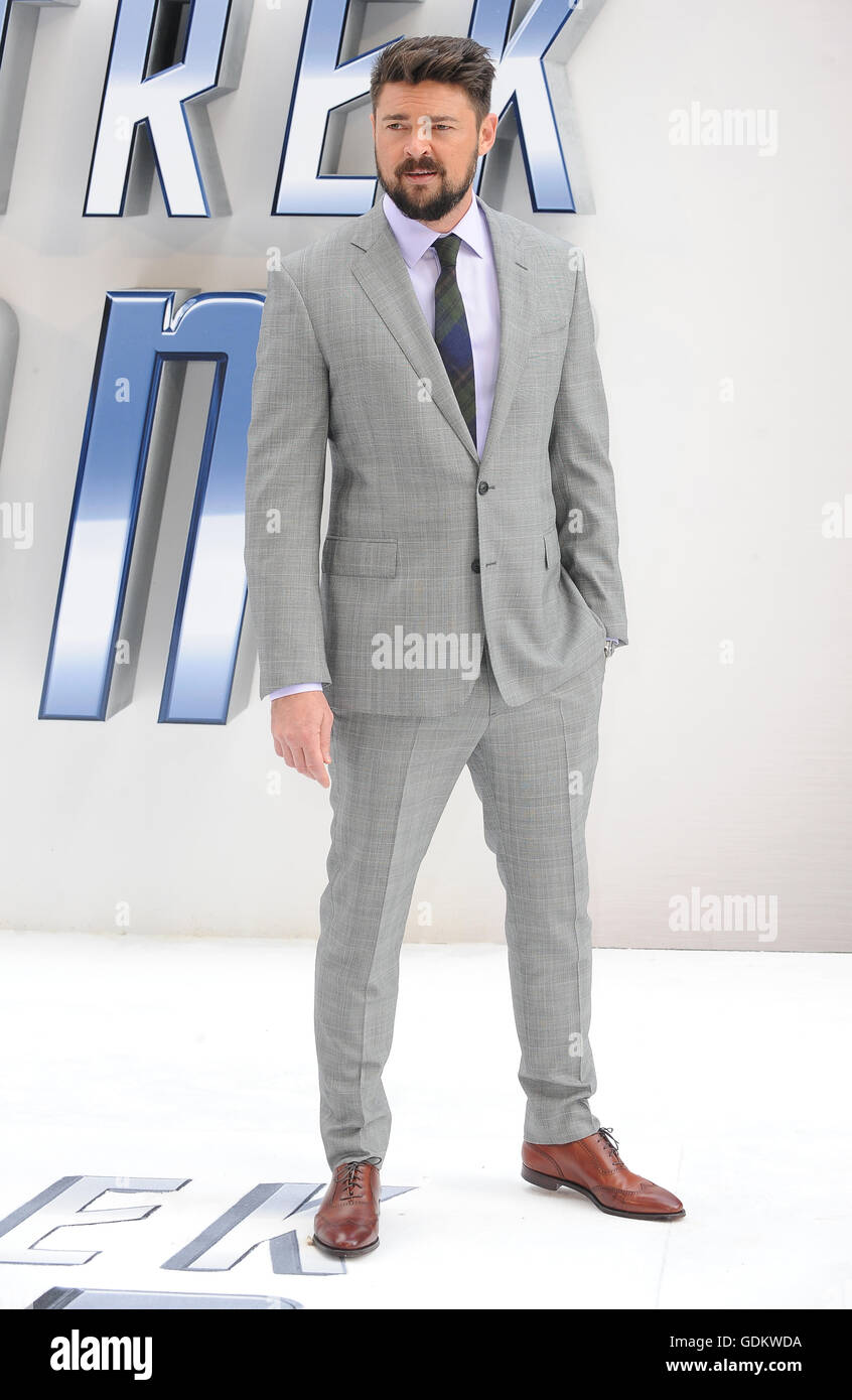 Karl Urban attends the UK Premiere of Star Trek Beyond at Empire Leicester Square in London. July 12th 2016 © - Stock Image