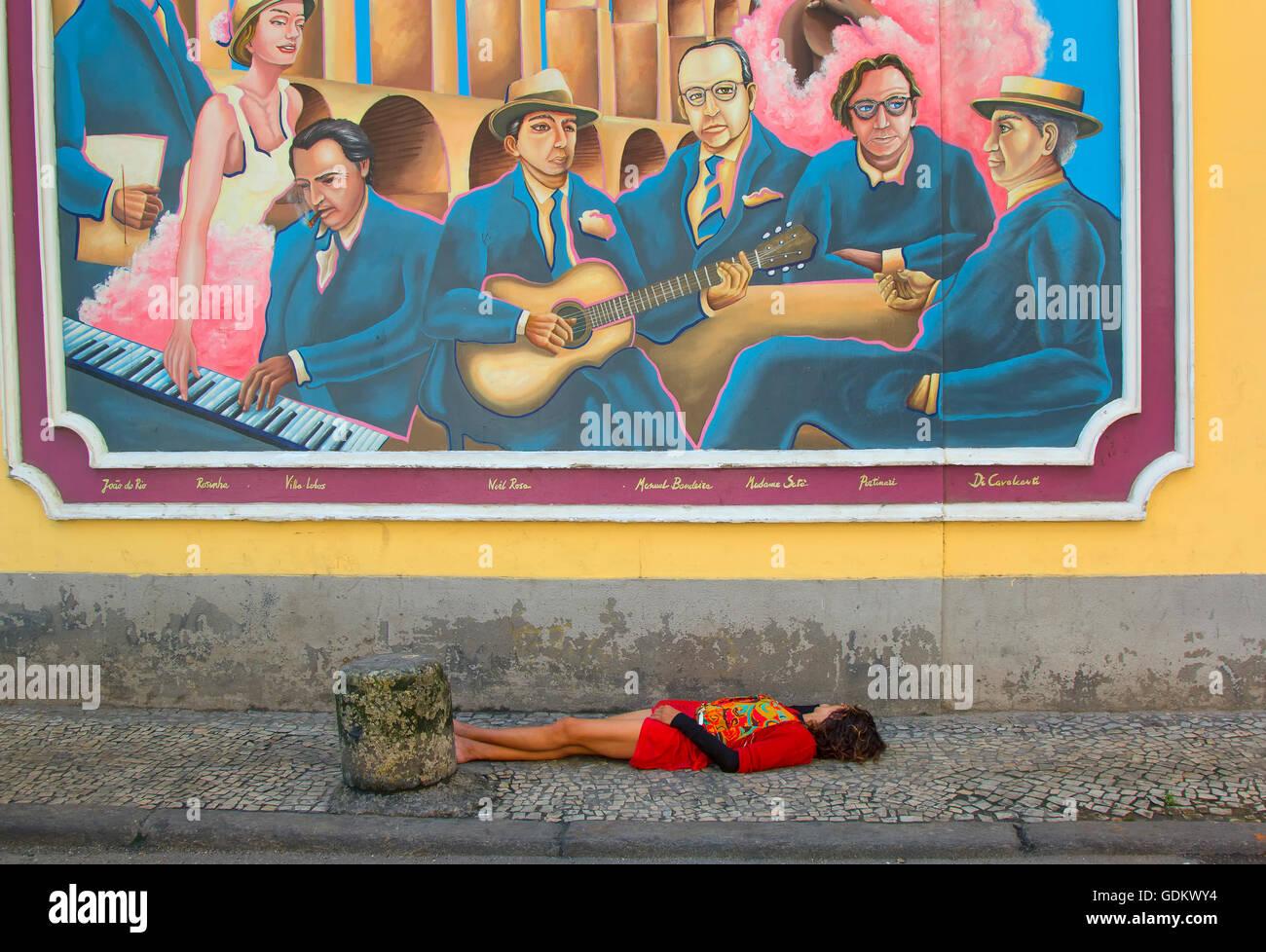 Social issue in Rio de Janeiro - Stock Image