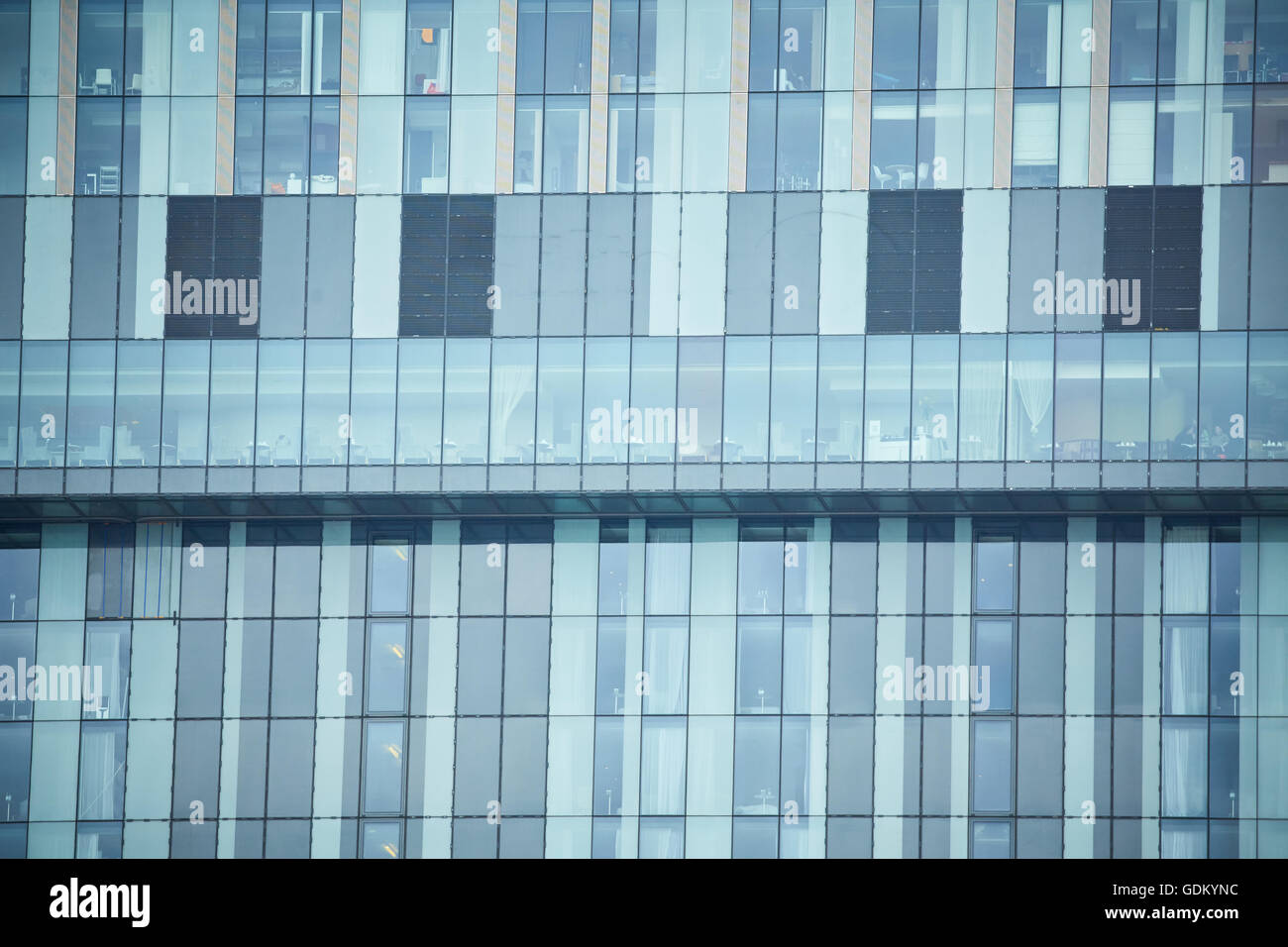 Betham tower close up deansgate  cloud 23 bar with view over city section exterior - Stock Image