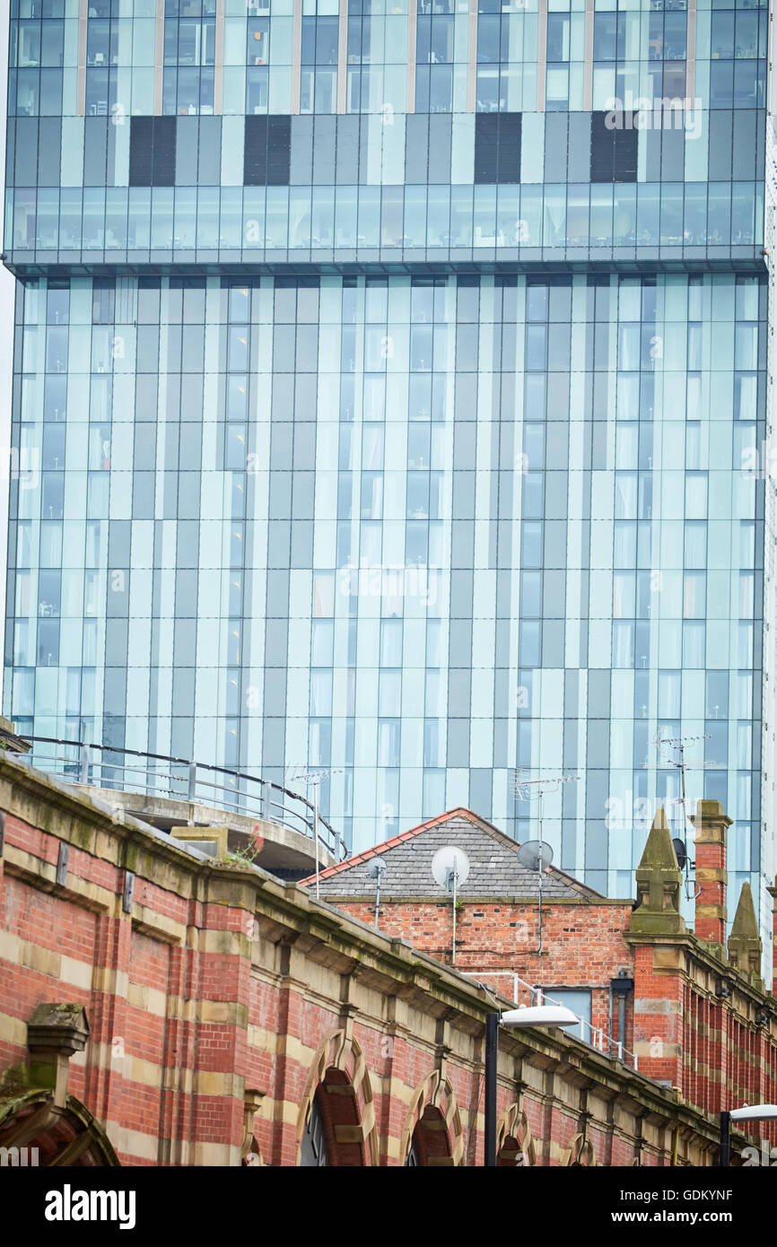 Betham tower close up deansgate  Northern Warehouse windows detail - Stock Image