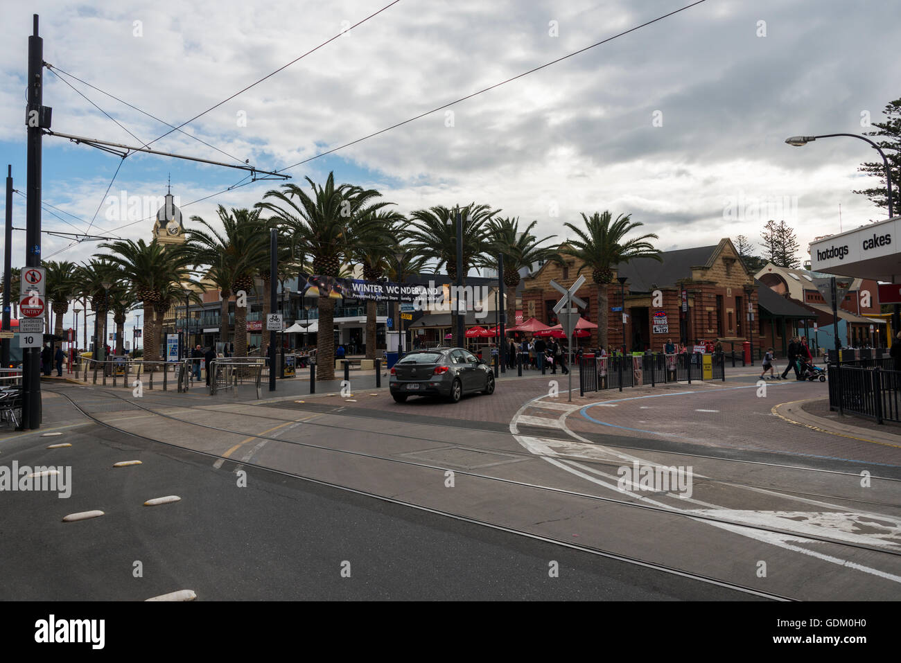 Moseley Square, Glenelg, Adelaide, South Australia Stock Photo