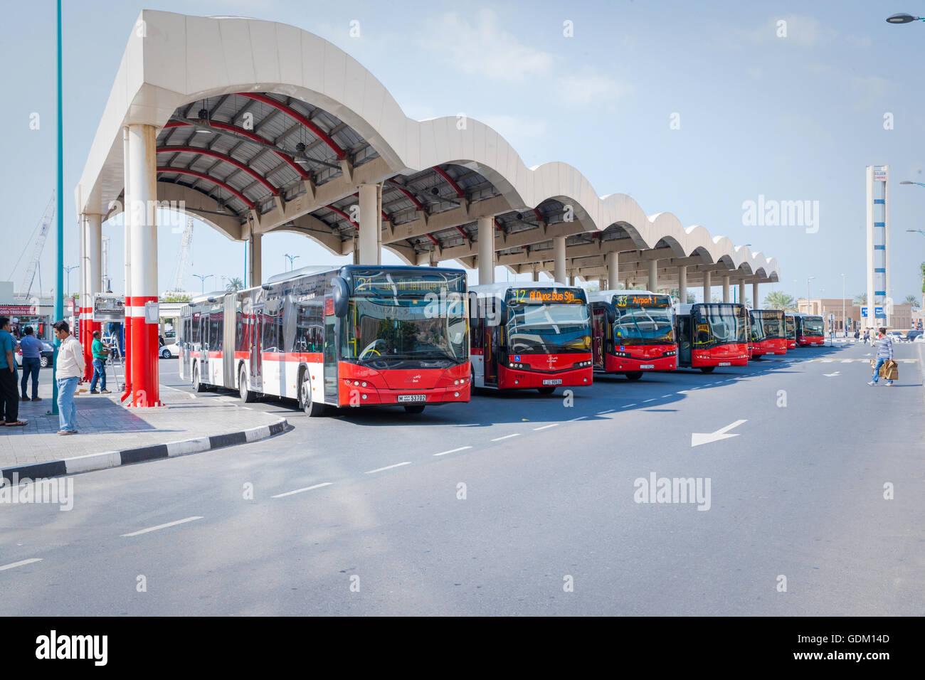 Al Ghubaiba Bus Stand Dubai Uae Stock Photo 111692685 Alamy