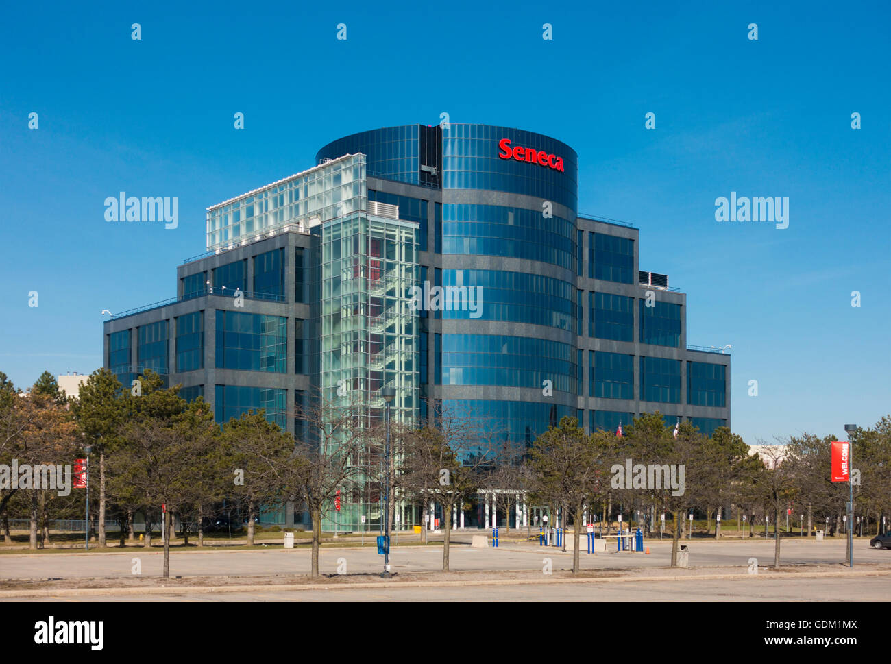 Markham Campus Of Seneca College Of Applied Arts And Technology In Stock Photo Alamy