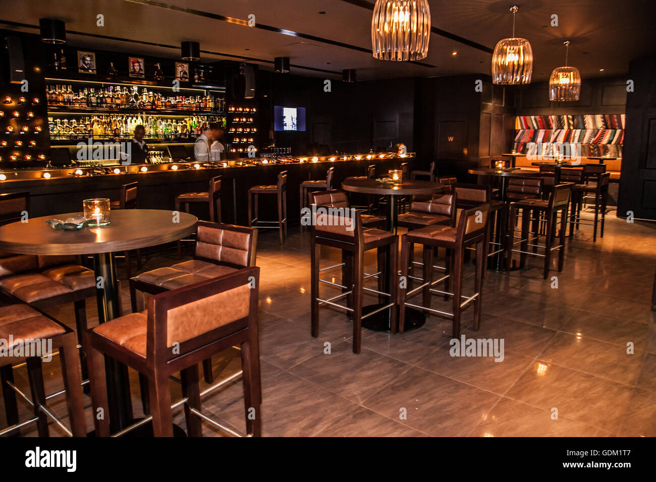 An interior shot of gq bar jw marriott marquis dubai