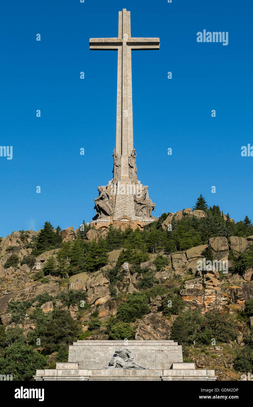 Valley of the Fallen (Valle de los Caidos),  Madrid province, Spain. Stock Photo