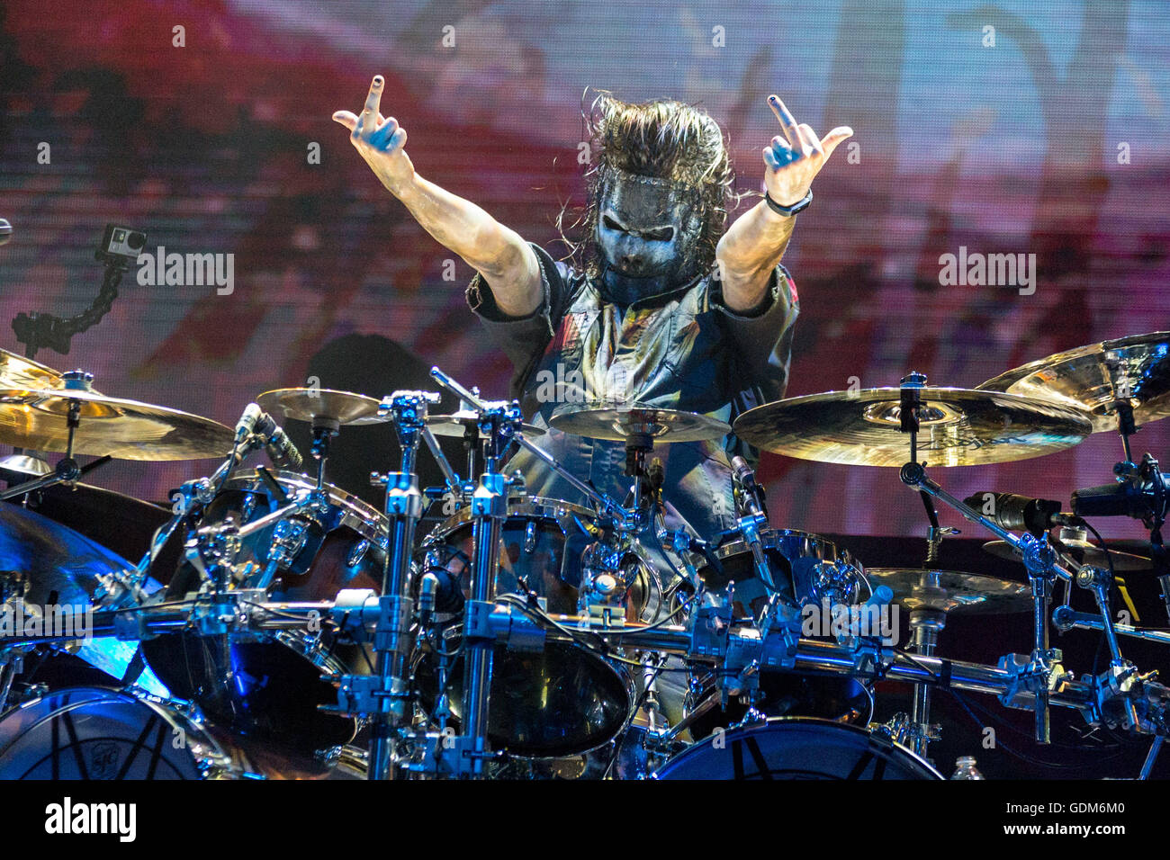 Chicago, Illinois, USA  17th July, 2016  Drummer JAY WEINBERG of