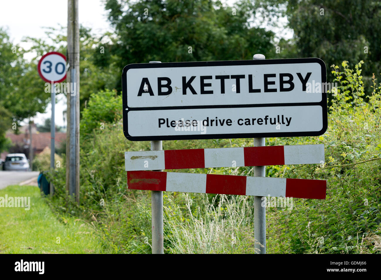 Ab Kettleby village sign, Leicestershire, England, UK - Stock Image