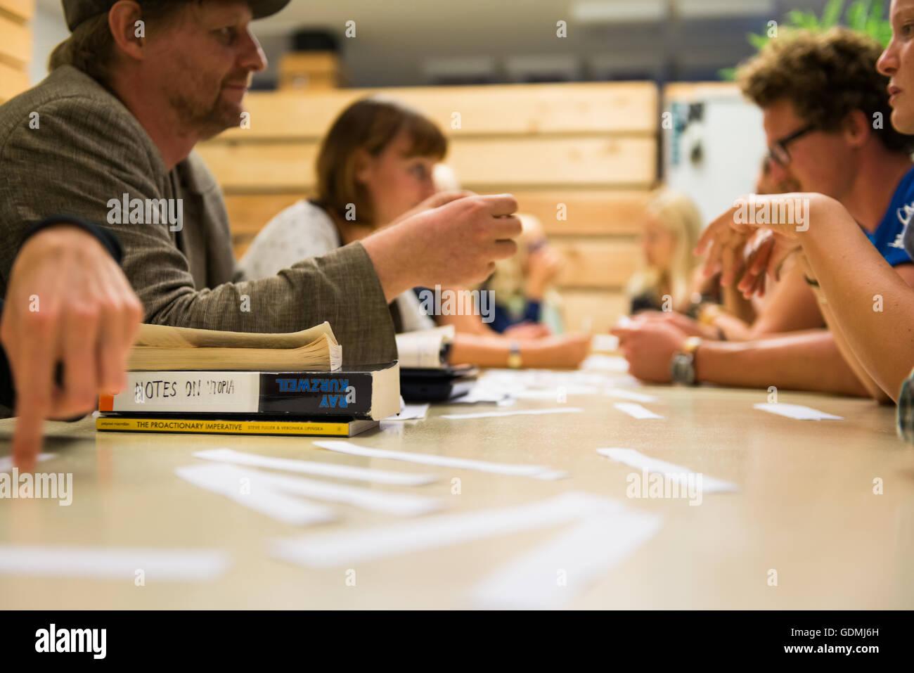 Notes on utopia, interactive performance at Festival Performa Platforma, Maribor, Slovenia, 2015 - Stock Image