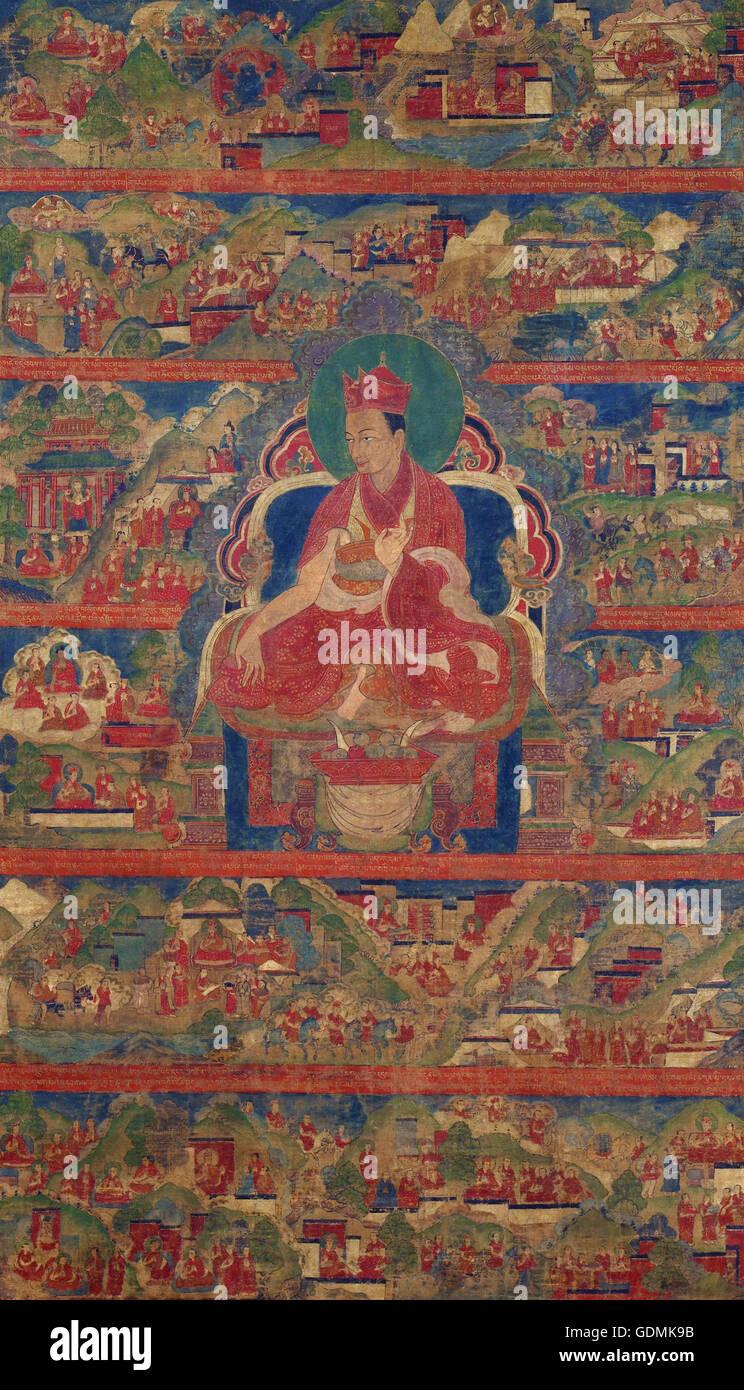 Sharmapa Lama, Chodag Yeshe Palzang, the 4th Shamar Rinpoche (1453-1554) - Stock Image