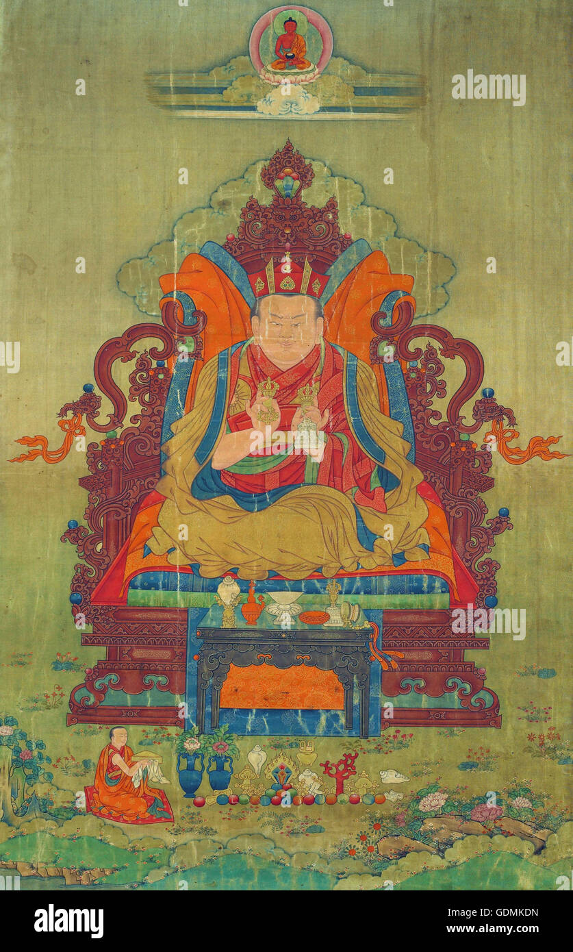 Tenth Shamarpa, Mipam Chodrup Gyatso (1742–1792) - Stock Image