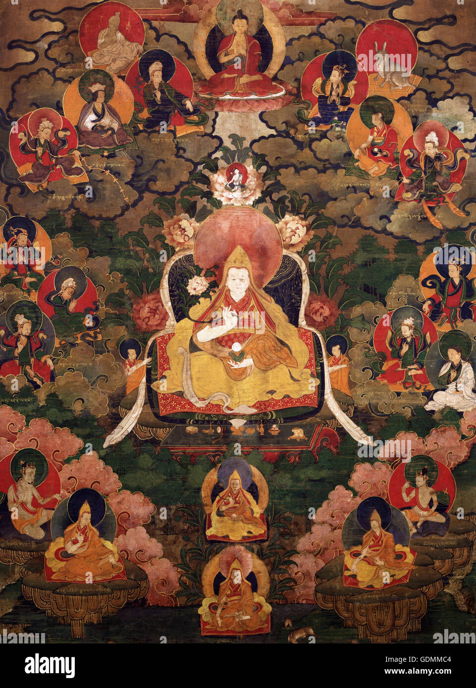Seventh Dalai Lama, Kalzang Gyatso (1708–1757) - Stock Image