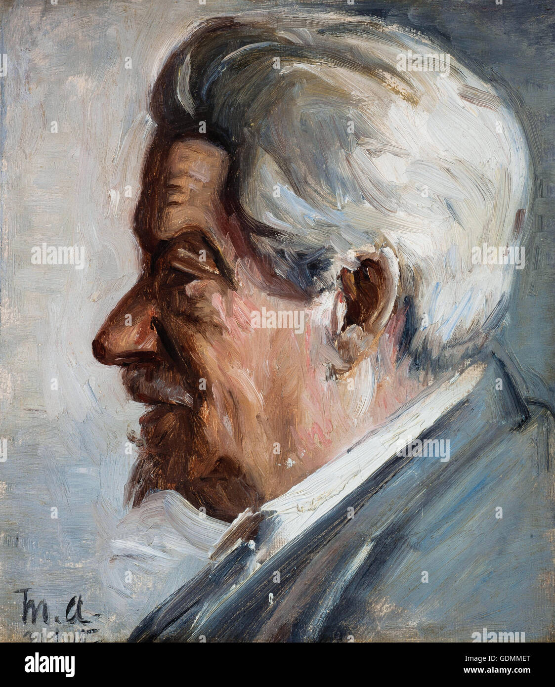 Michael Ancher - Georg Brandes - Stock Image