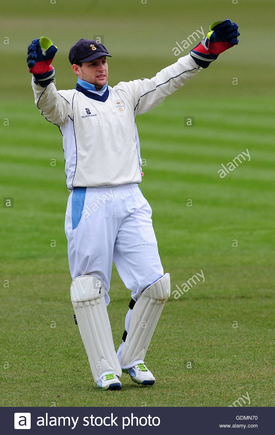File photo dated 13-04-2013 of Derbyshire's Tom Poynton - Stock Image